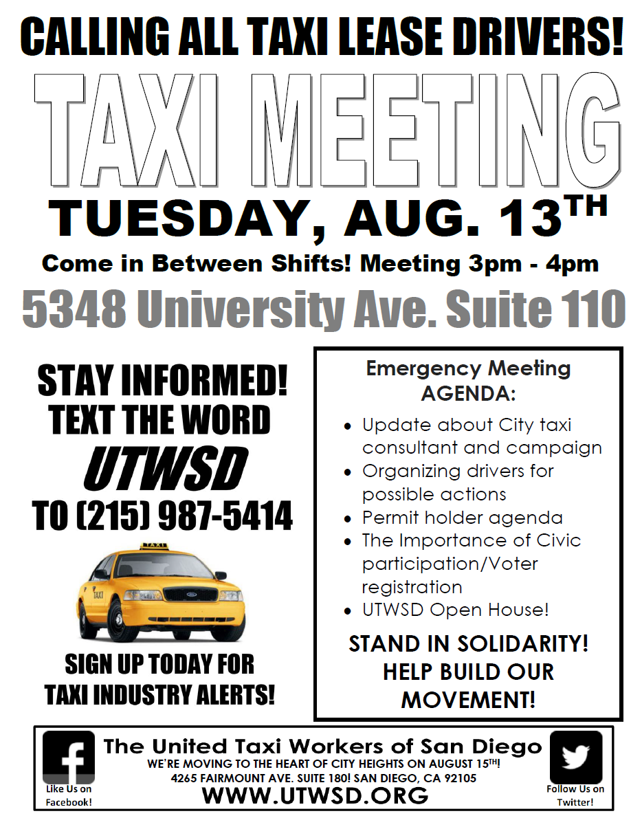 Taxi Meeting Flyer 8.13.13